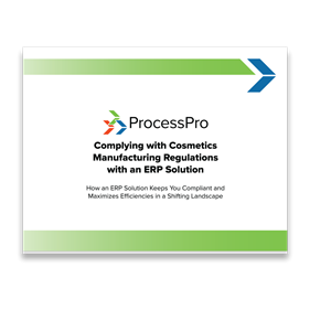Complying with Cosmetics Manufacturing Regulations with an ERP Solution